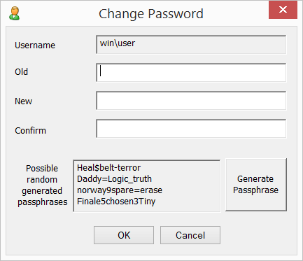passwdqc for Windows - Change Password utility