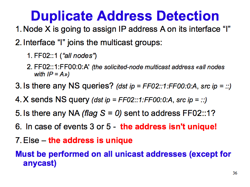 duplicate address detection ipv what why how slide